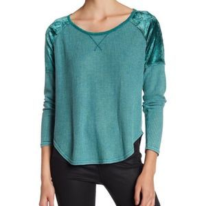 LUCKY BRAND Mixed Thermal Texture Long Sleeve